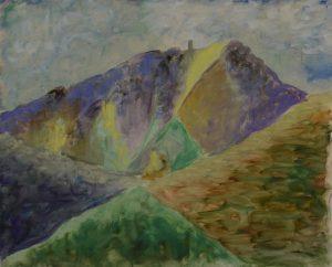 une succession de triangles structurent la montagne