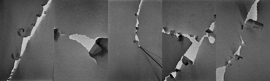 Bouclettes de papier structurent le tracé
