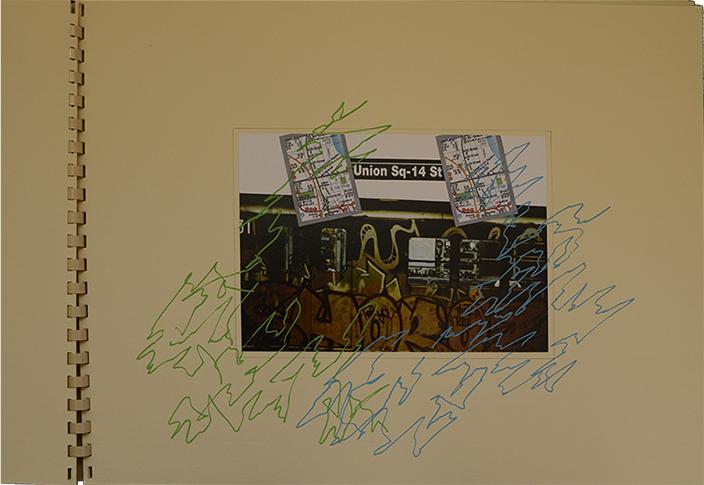 Photomontage et graffiti sur graffiti