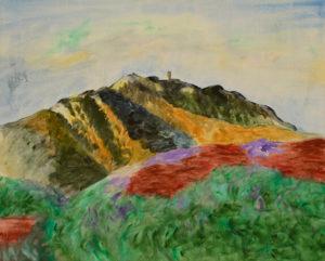 Shadows darken Madeloc Mountain