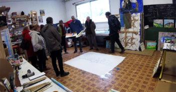 ateliers d'écriture en visite sur le projet Madeloc